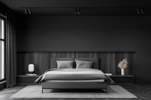 Gray And Wooden Master Bedroom...