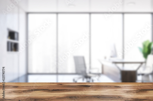 Cuadros en Lienzo Table in blurry executive office interior