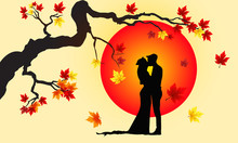 Newlyweds In Autumn Park, The ...