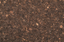 Dark Brown Cork Texture Closeup
