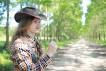 Cowboy With Hat In A Field In ...