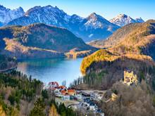 Landscape Of Bavatian Lake And...