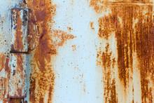Detail Of A Rusty Door On Rust...