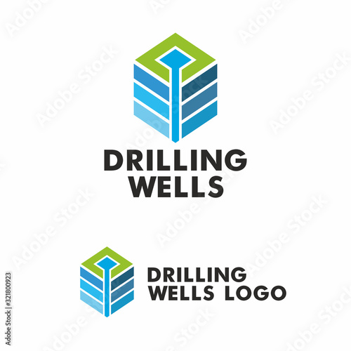 Carta da parati Drilling logo