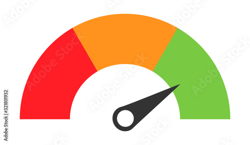 Customer icon emotions satisfaction meter with different symbol on white backgro Fototapete