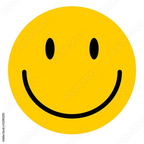 Fototapeta Happy emoticon smile face isolated on white background.  Vector character icon obraz