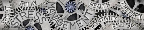 Obraz Metal Wheels with Stress Management Concept - fototapety do salonu