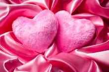 Pair Of Fuzzy Pink Valentine's...