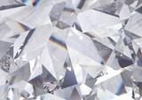 Fototapeta Kamienie - layered triangular macro diamond shapes with a small diamond over them. 3d rendering model