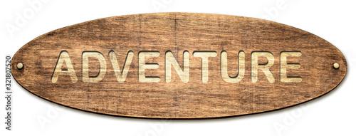 Street Sign to Adventure Canvas Print