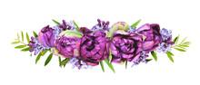 Purple Peony Tulips And Lilac ...