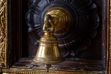 Antique Bronze Bell On The Doo...