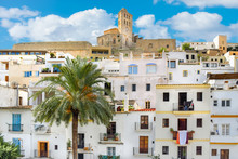 View Of The Old Town Of Ibiza,...