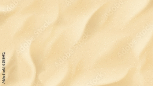 Fototapeta Piasek  realistic-texture-of-beach-sand-vector-illustration-with-top-view-on-realistic-ocean-river