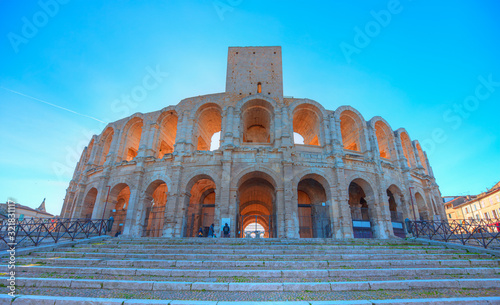 Roman amphitheatre in the Old Town of Arles -  Arles Amphitheatre, Roman arena in French town of Arles Wallpaper Mural