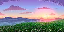 Vector Spring Landscape Backgr...