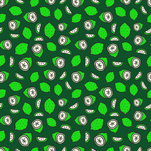 Seamless Pattern With Green Lime