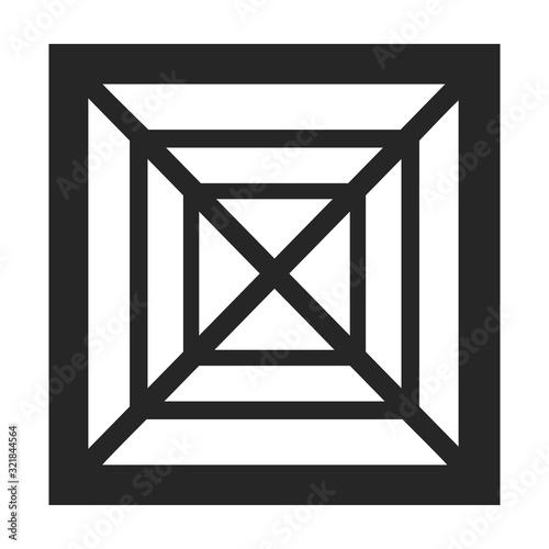 Obraz na plátně Ventilation grate vector icon