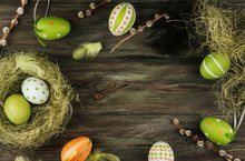 Green And Orange Easter Eggs ...