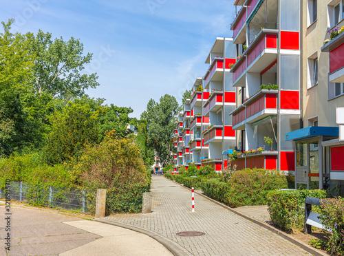 Photo DDR Typenbauten, Mietwohnungen, Wohngebiet, Wohnblock, Plattenbauten