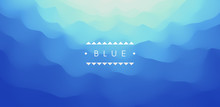 Blue Abstract Background. Real...