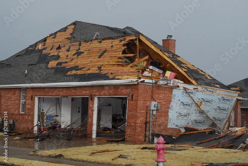 Fotografia, Obraz Tornado Damage