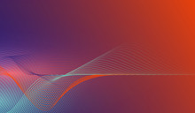 Abstract Colorful Wave Lines O...