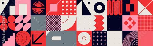 Fototapeta Brutalism Design Abstract Vector Pattern obraz