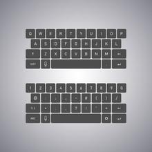 QWERTY Keyboard Full Set. Keyb...