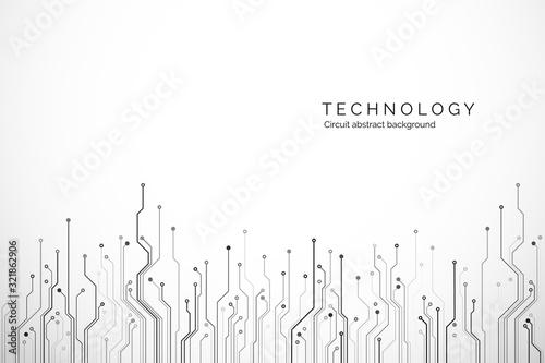 Cuadros en Lienzo Circuit board technology background