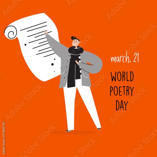 Fotografie, Obraz World poetry day, march 21