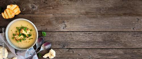 Canvastavla Roasted cauliflower and potato and soup