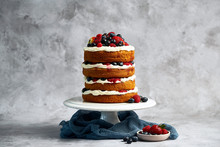 Fresh Fruit Vanilla Layer Cake