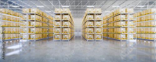 Fototapeta 3d warehouse building obraz