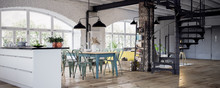 Luxury Vintage Industrial Loft...