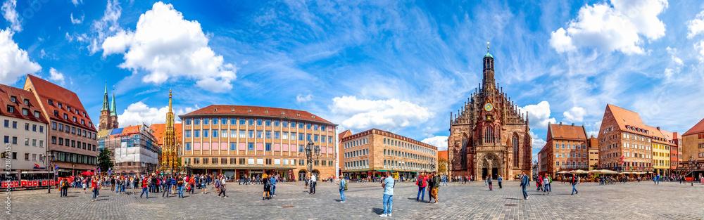 Fototapeta Panorama, Hauptmarkt, Nürnberg, Deutschland