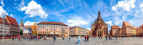 Panorama, Hauptmarkt, Nürnberg, Deutschland  - 321873153