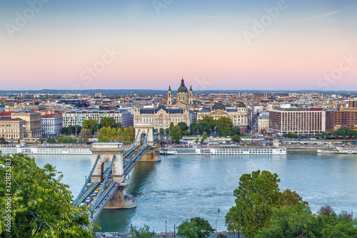 Canvas Print View of Budapest from Fisherman Bastion, Hungary