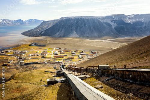 Pyramiden, Spitsbergen Fototapet