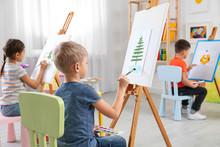 Cute Little Children Painting ...
