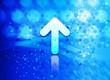 Leinwanddruck Bild - Up arrow icon abstract light cyan blue hexagon pattern background