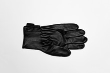 Black Leather Work Gloves Isol...