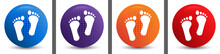 Human Two Footprints Icon Abst...