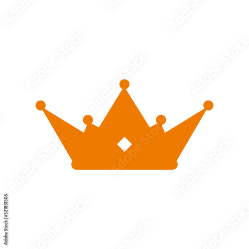 Photo crown vector icon illustration sign