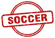 Soccer Stamp. Soccer Round Vin...