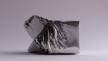 Silver Box Crushed Sculpture 3...