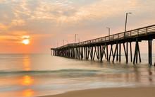 Fishing Pier At Sunrise At Vir...