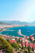Beautiful panoramic view of the coastline of Alanya, Turkey, Vertical image