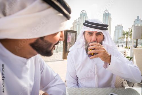 Businessmen in Dubai Canvas Print