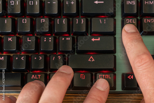 Photo keyboard shortcut ctrl alt del